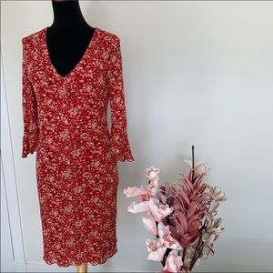 🌸2/$35🌸Red floral dress from BeSmart